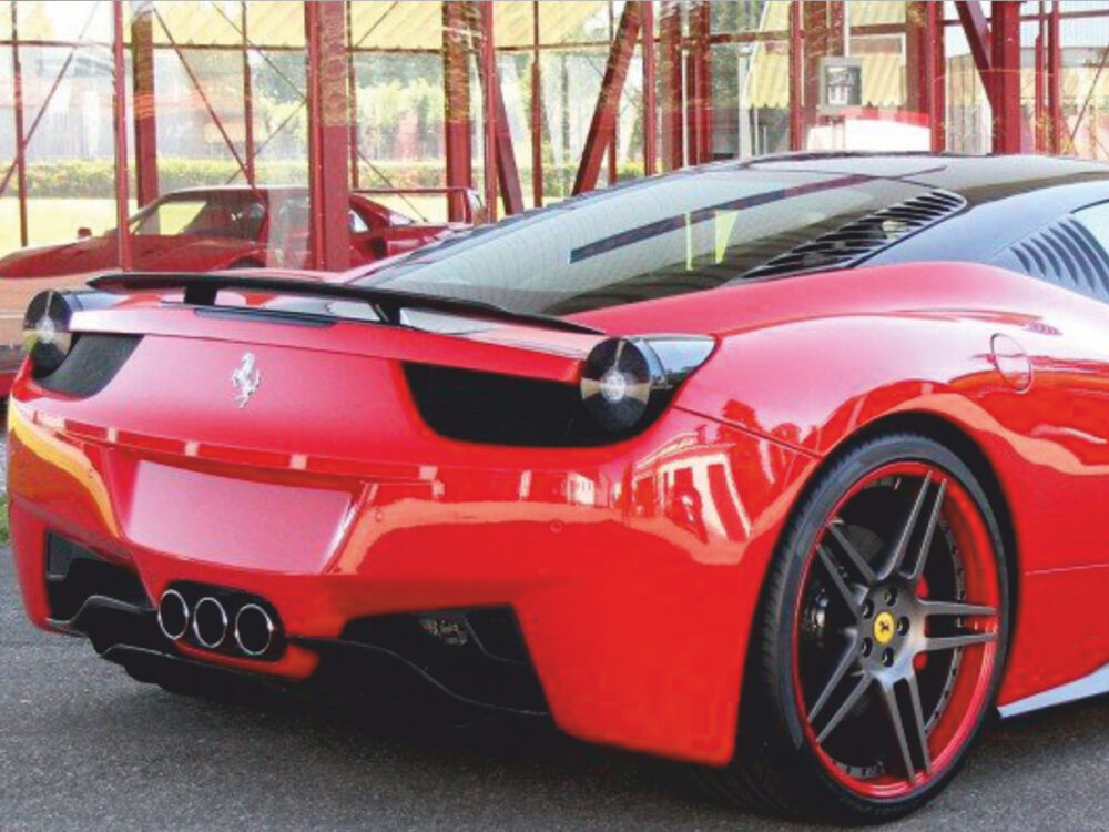 Ferrari 458 Italia Motorraum Entlüftungsgitter