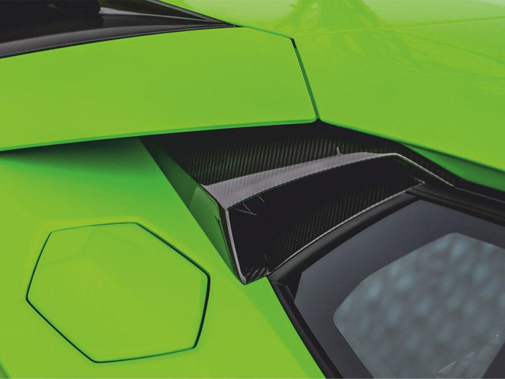 Lamborghini Aventador SVJ Lufteinlass Seitenfenster